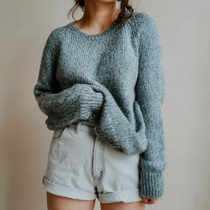 GAP • oversized marled alpaca blend sweater p8